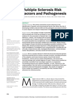 Multiple Sclerosis Risk Factors and Pathogenesis