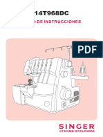 Singer 14t968dc manual en español