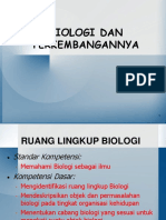 Biologi   Perkembangannya