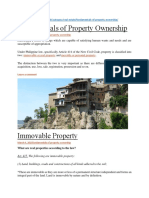 Reference Material on Fundamentals of Property Ownership