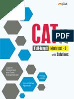 CAT 2018 Full Length Mock Test 3