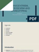 Ethnocentrism, Heterosexism and Stereotyping (1)