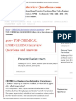 chemical engineering interview questions