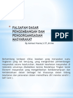 Falsafah dasar pengembangan dan pengorganisasian masyarakat