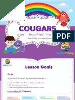 Cougars Lesson 1 - Tutor's Copy