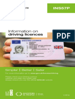 Ins57p Info Driving Licences