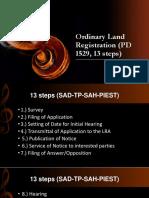 Chronological Steps in Land Registration