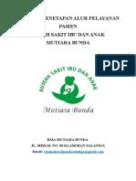 PANDUAN PENETAPAN ALUR PELAYANAN PASIEN.doc