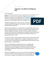 """Authentic Happiness"" by Martin Seligman (Book (1)"