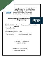 Sdpd Course File