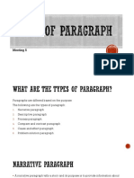 5th Meeting - Types of Paragraph
