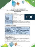 614-Guía de Actividades y Rúbrica de Evaluación - Fase 2 - Debate Sobre Interacción Suelo-microorganismos