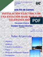 INSTALACIÓN ELÉCTRICA DE UNA ESTACIÓN BASE RURAL DE TELEFONÍA MÓVIL