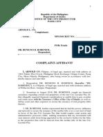 affidavit of service-gerold radar g josue-arnold co case-2019.docx