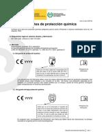 Guante de protección química