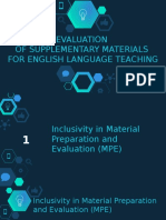 EVALUATION OF SUPPLEMENTARY MATERIALS FOR ENGLISH LANGUAGE TEACHING