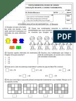 DQ Av 2º Bim Matemática 2019