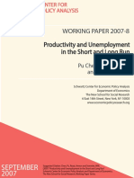 Productivity and Unemployment - SCEPA Working Paper 2007-8