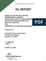 FA 250 Certificate