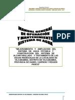 1. Manual de Mantenimiento de Sistema de Agua Potable