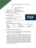 Informe Del Test de Inteligencia Factor Ramos Curay Angheñp Joshua