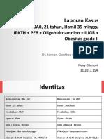 PPT Case PEB & Oligo - Nevy