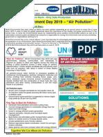 149 a HSE Bulletin - World Environment Day 2019 Air Pollution (2)