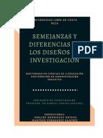 Semejanzas y diferencias de los diseños de investigaciòn