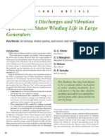 Impact of Slot Discharges and Vibration Sparking on Stator Winding Life in Large Generators