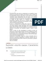 1. Sucesión Mortis Causa Caracteres y Clases