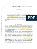 Experntial Family State Space Models in R