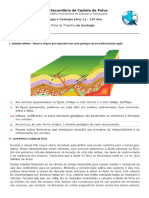 Ficha de Trabalho Datação Relativa e Radiométrica