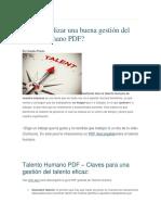 Cómo Realizar Una Buena Gestión Del Talento Humano PDF-1