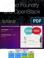 Cloud Foundry and OpenStack