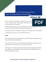 Actuarial Specialist for AGCS Portfolio Management Team