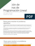 2.Resolución de Problemas de Programación Lineal