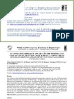 ANAIS do 34º Congresso Brasileiro de Espeleologia