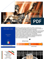 Presentación Irretroactividad y Retroactividad de La Ley