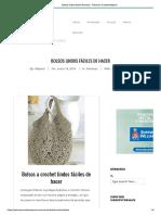 Bolsos Lindos Fáciles de Hacer - Patrones Crochet Majovel