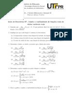 Lista 07 - Limite e Continuidade de Funções Reais de Várias Variáveis Reais (Respostas)