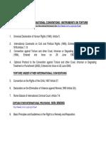International Regional Conventions