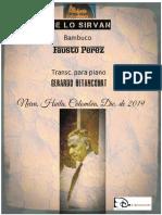QUE LO SIRVAN. Bambuco. Fausto Pérez. Transc. piano Gerardo Betancourt.