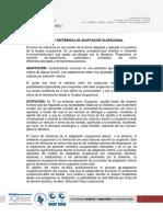 MARCO DE ADAPTACION OCUPACIONAL