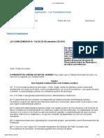 Lei Complementar Municipal 132 2013 - Organização e Funcionamento Da Procuradoria-Geral Do Município