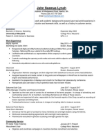 shay lynch- marketing resume