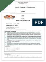 Evaluación de Lenguaje y Comunicación Octubre Unidad 3