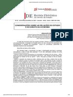 Alexandre Aragão - Considerações Sobre as Relações Do Estado e Do Direito Na Economia