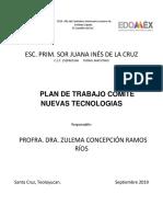 Plan de Trabajo Comité Nuevas Tecnologias