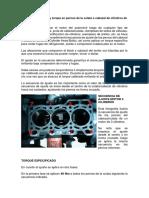 Secuencia de Ajuste y Torque en Pernos de La Culata o Cabezal de Cilindros de Motor