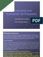 Introducción a La Evaluación de Proyectos 2019
